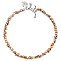 Dower And Hall Nomad Nugget Tri Colour Mixed Bracelet Gold Silver