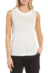 Nordstrom Women's Collection Linen And Silk Shell