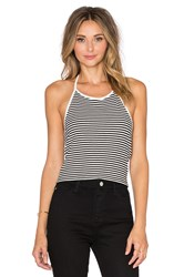 Lisakai Shila Halter Tank Black And White