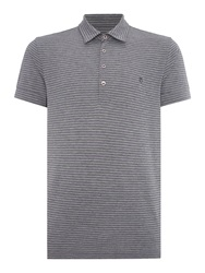 Peter Werth Vista Stripe Polo Slim Fit Polo Shirt Grey