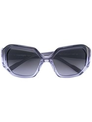 Courreges Square Sunglasses Women Acetate One Size Blue