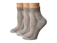 Thorlos Light Hiking Mini Crew 3 Pk Walnut Women's Crew Cut Socks Shoes Brown