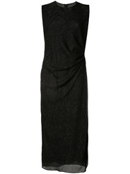 Adam By Adam Lippes Exclusive Fitted Evening Dress Black