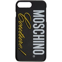 Moschino Black 'Couture' Iphone 8 Plus Case