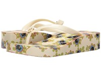 Tory Burch Classic Wedge Flip Flop Ivory Avalon