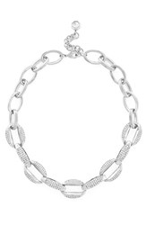 Women's Louise Et Cie Large Link Necklace Silver