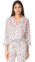 Sleepy Jones Liberty Edenham Floral Marina Pajama Shirt White