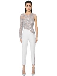 Zuhair Murad Embroidered Tulle And Cady Jumpsuit