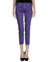 Tory Burch Denim Pants Purple