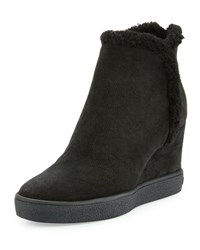 Aquatalia By Marvin K Charlie Faux Fur Ankle Boot Black