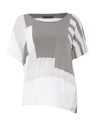 Crea Concept Short Sleeve Patterned Jumper Silver