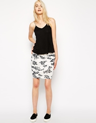 Pencey Standard Twisted Mini Body Conscious Skirt In Floral Print
