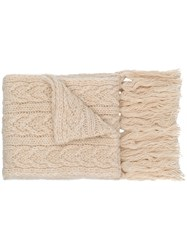 Barena Cable Knit Scarf White