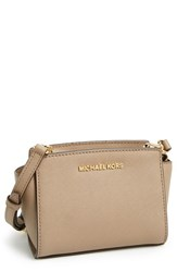 Michael Michael Kors 'Selma Mini' Saffiano Leather Messenger Bag