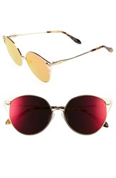 Sonix Women's Ibiza 55Mm Mirrored Round Sunglasses Revo Mirror Gold