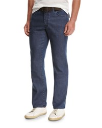 Brioni Dark Wash Stretch Denim Jeans Blue