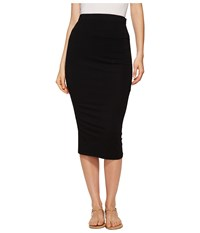 Michael Stars Pencil Skirt W Shirring Black Women's Skirt