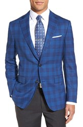 Men's Pal Zileri Classic Fit Plaid Wool Sport Coat
