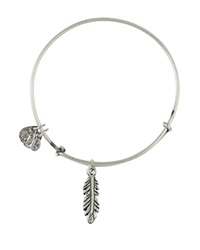 Alex And Ani Feather Bangle Rafaelian Silver