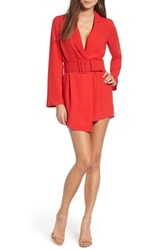 Leith Belted Romper Red Chinoise