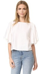 Club Monaco Chasym Top Pure White