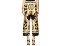 Versace Baroque Print Crop Pants Gold
