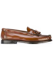 Silvano Sassetti Tasselled Loafers Men Leather Rubber 6 Brown