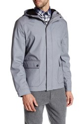 Kenneth Cole Novelty Hooded Softshell Jacket Gray