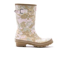 Hunter Women's Original Short Flectarn Camo Wellies Pale Sand Multi
