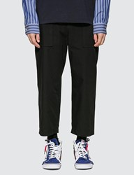 Sacai Fabric Combo Cropped Pants Black