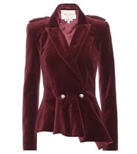 Carolina Herrera Mytheresa.Com Exclusive Velvet Jacket Red