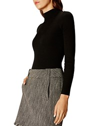 Karen Millen Ribbed Turtleneck Sweater Black
