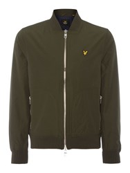 Lyle And Scott Men's Bomber Zip Through Jacket Sage