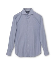 Mango Astoria Slim Fit Micro Houndstooth Shirt Light Blue