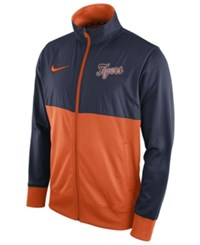 Nike Men's Detroit Tigers Track Jacket Navy Orange
