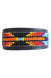 Men's Will Leather Goods Beaded Cuff Bracelet