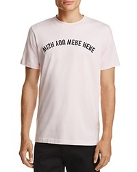 Wesc Wish You Were Here Graphic Tee Pale Pink