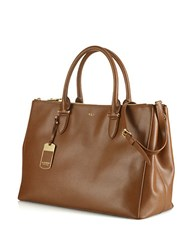 Lauren Ralph Lauren Newbury Leather Double Zip Satchel Lauren Tan