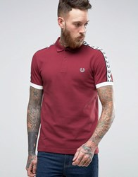 Fred Perry Sports Authentic Polo Shirt In Maroon Maroon Red