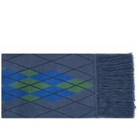 Fred Perry X Thames Argyle Scarf Blue