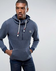 Tom Tailor Hoodie With Half Zip Neck Detail Navy