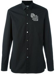 Lanvin Rose Tattoo Embroidered Shirt Black
