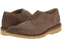 Frye Jim Wedge Wingtip Grey Oiled Suede Men's Lace Up Wing Tip Shoes Gray