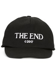 Off White 'The End' Embroidery Cap Black