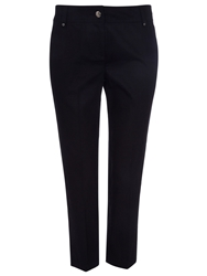 Wallis Petite Black Cotton Crop Trousers