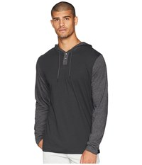 Rvca Pick Up Hooded Knit Pirate Black Clothing