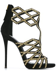 Giuseppe Zanotti Design 'Raquel' Caged Sandals Black