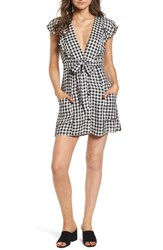 Lost Wander Day Trip Gingham Minidress Black