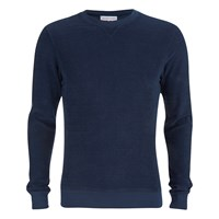 Orlebar Brown Men's Pierce Towelling Sweatshirt Navy