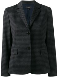 Theory Houndstooth Single Breasted Blazer 60